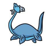 Dinosaurus plesiosaur beeldverhaal Stock Afbeelding