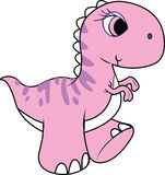 Dinosaurus, roze dinosaurus Stock Foto