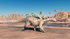 Dinosaurus Sauropelta Royalty-vrije Stock Fotografie