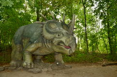Dinosaurus. Sculpture in live size. (2013 Royalty Free Stock Photos