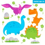 dinosaurus set royalty free illustration