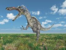 Dinosaurus Suchomimus in een landschap vector illustratie