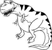 Dinosaurus t -t-rex Stock Illustratie