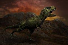 Dinosaurus t -t-rex Royalty-vrije Stock Foto's