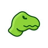 Dinosaurus vlak embleem royalty-vrije illustratie