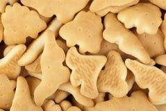 Dinosaurus-vormige koekjes stock foto