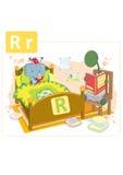 Dinosaurusalfabet, brief R van robot Stock Fotografie