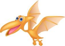 Dinosaurusbeeldverhaal het vliegen Stock Foto