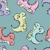 Dinosauruspatroon Royalty-vrije Stock Afbeeldingen