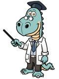 Dinosaurusprofessor Stock Foto's