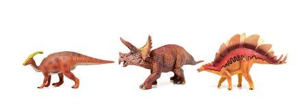 Dinosaurussen plastic modellen stock foto's