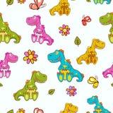Dinosaurussenpatroon Stock Afbeeldingen