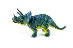 Dinosaurusstuk speelgoed op geïsoleerd op wit Stock Foto's