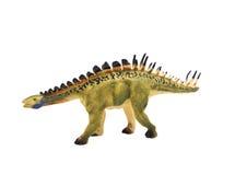 Dinosaurusstuk speelgoed op witte backgroun royalty-vrije stock foto's