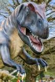 Dinosaurustentoonstelling in botanisch park Royalty-vrije Stock Afbeeldingen