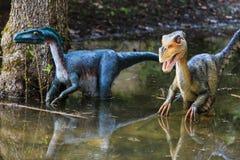Dinosaurustentoonstelling in botanisch park Royalty-vrije Stock Afbeelding