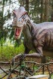 Dinosaurustentoonstelling in botanisch park Royalty-vrije Stock Foto's