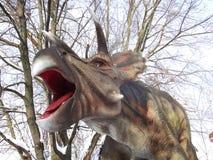 Dinosaurustriceraptor op de aard stock foto