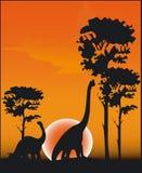 dinosaurvektor Arkivfoton