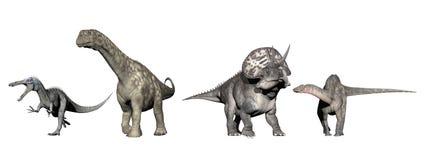 Dinosaury - 3D odpłacają się royalty ilustracja