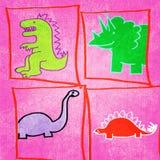 dinosaury ilustracyjni Fotografia Royalty Free
