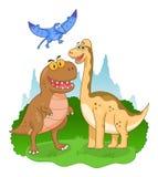 Dinosaury ilustracyjni Zdjęcia Royalty Free