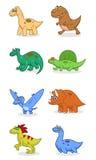 dinosaury ustawiają ilustracja wektor