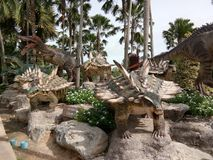 Dinosour in Suan Nong Nuch resort, Chonburi/Thailand royalty free stock images