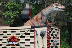 Dinosour @ Universele Studio's Singapore Stock Afbeeldingen