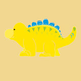 Dinossauro amarelo Imagens de Stock
