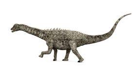 Dinossauro Ampelosaurus Foto de Stock