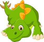 Dinossauro bonito dos desenhos animados Fotografia de Stock Royalty Free