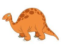 dinossauro bonito dos desenhos animados cômico ilustração royalty free