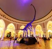 Dinossauro da alameda de Dubai, Dubai, Emiratos Árabes Unidos Fotografia de Stock Royalty Free