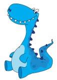 Dinossauro de assento Foto de Stock Royalty Free