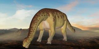 Dinossauro de Camarasaurus-3D Imagens de Stock
