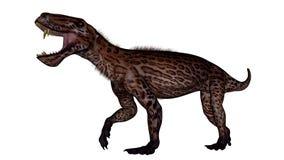 Dinossauro de Lycaenops - 3D rendem Foto de Stock