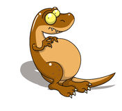 Dinossauro de T-rex Imagens de Stock