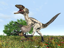 Dinossauro Deinonychus ilustração royalty free