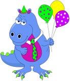 Dinossauro do aniversário Foto de Stock Royalty Free