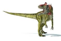Dinossauro do Cryolophosaurus, representação photorealistic. Dinâmico ilustração do vetor