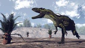 Dinossauro do Torvosaurus - 3D rendem ilustração stock