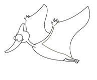 Dinossauro do vôo preto e branco Foto de Stock
