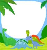 Dinossauro e quadro Fotos de Stock Royalty Free