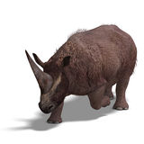 Dinossauro Elasmotherium Fotos de Stock Royalty Free