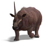 Dinossauro Elasmotherium Imagem de Stock Royalty Free