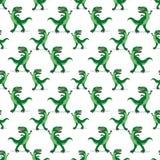 Dinossauro em um fundo branco Fotografia de Stock Royalty Free