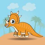 Dinossauro engraçado do estilo dos desenhos animados Imagem de Stock Royalty Free