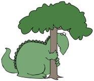Dinossauro escondendo Imagens de Stock Royalty Free