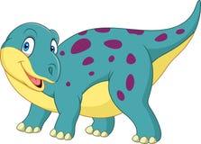 Dinossauro feliz dos desenhos animados ilustração do vetor